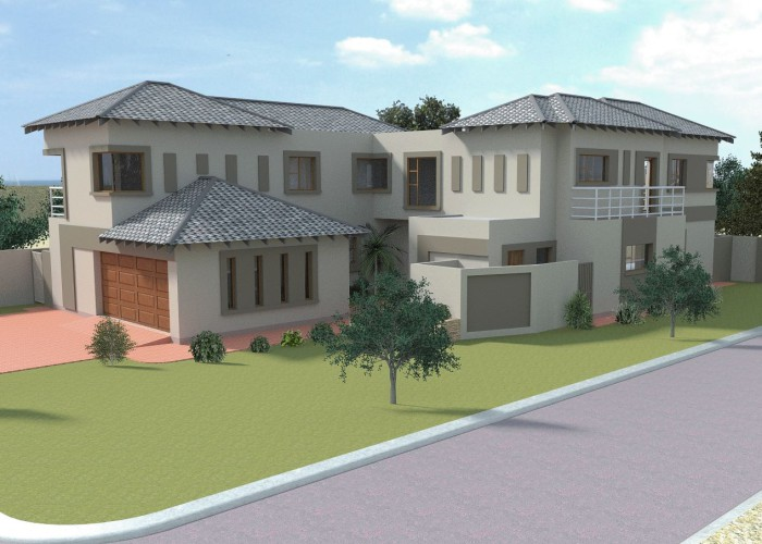 Eye catching contemporary style double storey.