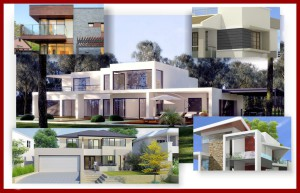 Contemporary homes border montage