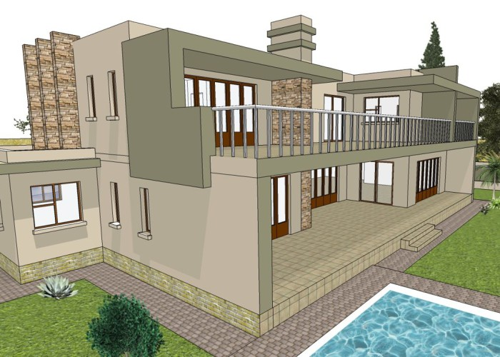 Contemporary flat roof designed.