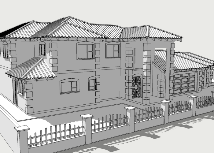 A Tuscan designed double storey house to incorporate into house plans