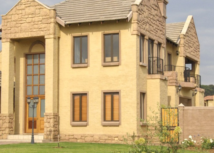 Turrone influence with stone cladding.