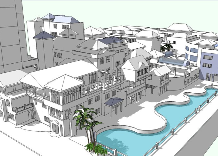 Town square redevelopment