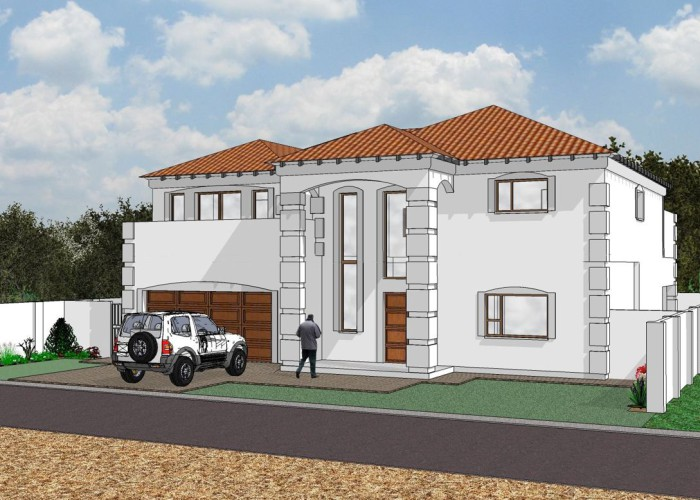 White Tuscan double storey