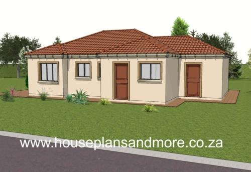 Single storey cottage plan design for client