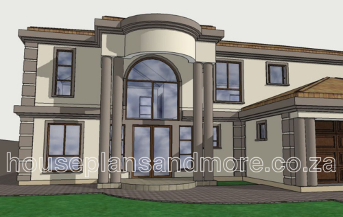 Double storey house plan design for client