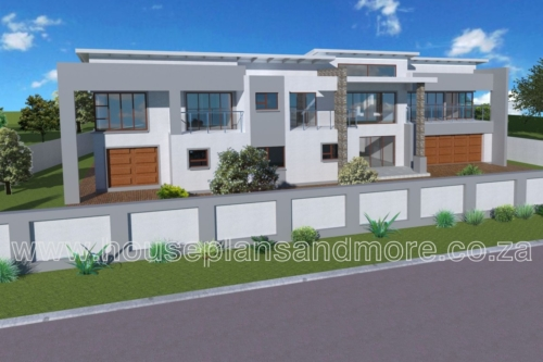 Double storey metal flat roof house plan design for owner
